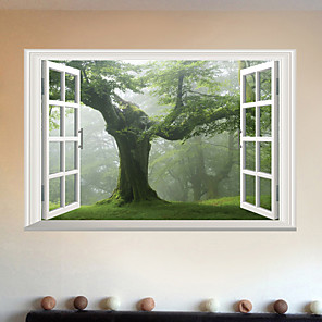 cheap Wall Stickers-Creative Tree Landscape Wall Stickers - Words &amp Quotes Wall Stickers Characters Study Room / Office / Dining Room / Kitchen