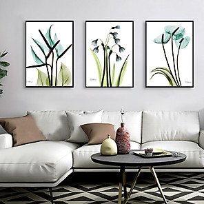 cheap Framed Arts-Framed Art Print Framed Set - Abstract Floral / Botanical PS Illustration Wall Art
