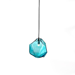 cheap Pendant Lights-1-Light 18 cm Creative Pendant Light Glass Glass Geometrical / Novelty Contemporary / Lantern 110-120V / 220-240V