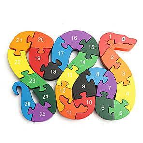 cheap Building Blocks-Wooden Puzzle Educational Toy Math Toy Number Letter Geometric Pattern Educational Wooden For Kid's Child's All Boys' Girls'
