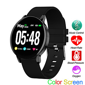 cheap Smart Wristbands-R5S Sports Watch Heart Rate Sleep Monitor Blood Pressure Fitness Tracker Android IOS Music Control Color Screen Band