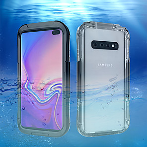 cheap Samsung Case-Case For Samsung Galaxy Galaxy S10 / Galaxy S10 Plus / Galaxy S10 E Water Resistant Back Cover Solid Colored Hard Plastic