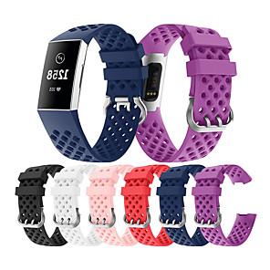 halpa Smartwatch-nauhat-katsella bändi fitbit-latausta varten 3 fitbit-urheilulista silikoni-rannehihna
