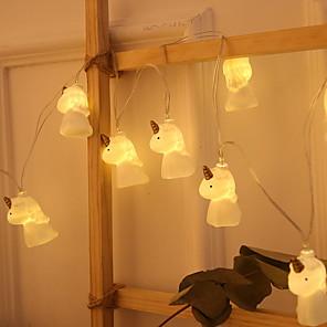 cheap LED String Lights-2m Creative Cute Unicorn String Lights 20 LEDs Warm White Decorative 5 V 1 set