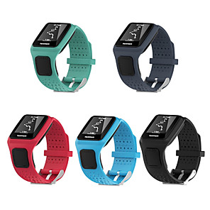 cheap Smartwatch Bands-Silicone Square Watch Band Bracelet Strap Replacement for TomTom Multi-Sport/Tom Tom Runner gps sport watches 1 series watchband