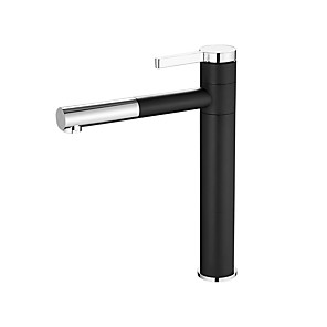 cheap Bathroom Sink Faucets-Bathroom Sink Faucet - Widespread Electroplated Vessel Single Handle One HoleBath Taps