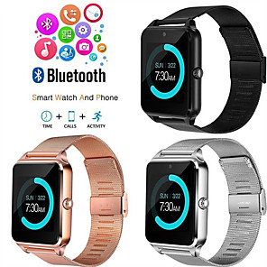 cheap Smartwatches-Z60 Smart Watch BT Fitness Tracker Support Notify/ SIM-card/ Heart Rate Monitor Sports Smartwatch Compatible Samsung/ Android/ Iphone