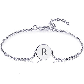 cheap Engraved Bracelets-Personalized Customized Bracelet Titanium Steel Classic Name Engraved Gift Promise Festival irregular 1pcs Gold Silver Rose Gold / Laser Engraving