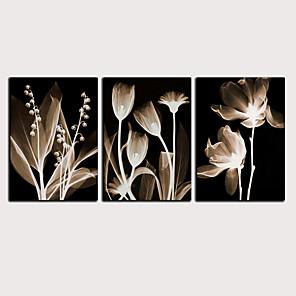 cheap Prints-Print Rolled Canvas Prints - Abstract Botanical Classic Modern Three Panels Art Prints