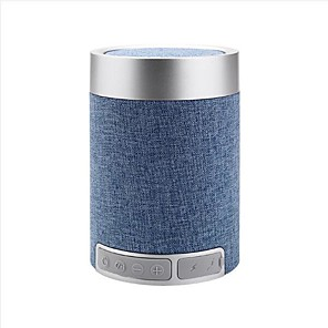 cheap Portable Speakers-New Outdoor Portable Fabric Wireless Bluetooth Soundbox Plug-in Card Mobile Phone Small Audio Cylinder Overweight Subwoofer