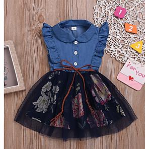 cheap Kids Collection Under $8.99-Kids Girls' Floral Dress Blue