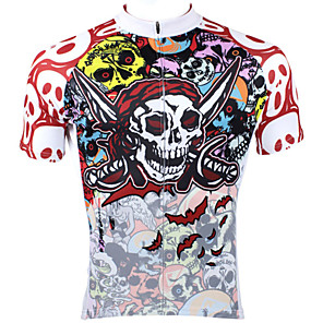 cheap Cycling Jerseys-ILPALADINO Men's Short Sleeve Cycling Jersey Red Skull Bike Jersey Top Mountain Bike MTB Road Bike Cycling Breathable Quick Dry Ultraviolet Resistant Sports Clothing Apparel