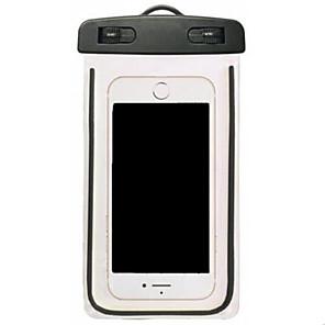 رخيصةأون أغطية أيفون-غطاء من أجل عالمي iPhone XS Max / iPhone X مقاوم للماء / شفاف حقيبة صغيرة ضد الماء شفاف ناعم PVC