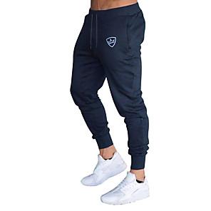 cheap Running & Jogging Clothing-Men's Basic EU / US Size Chinos / wfh Sweatpants Pants - Striped Stripe Cotton Dark Gray Navy Blue Light gray L XL XXL / Drawstring