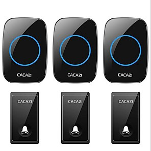 cheap Doorbell Systems-Self-powered doorbell wireless home doorbell Three-to-three battery-free waterproof learning code doorbell
