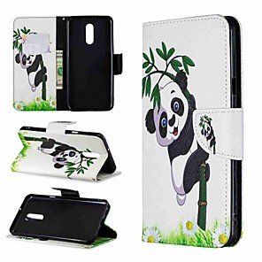 cheap Other Phone Case-Case For LG LG Stylo 4 / LG Stylo 5 / LG K10 2018 Wallet / Shockproof / with Stand Full Body Cases Panda Hard PU Leather