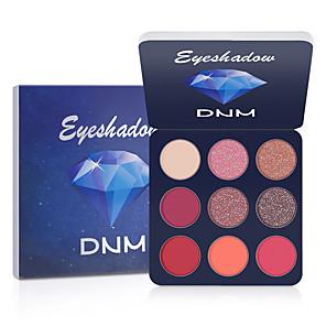 cheap Eyeshadows-DNM 9 Colors Eye Shadow Glitter Eye Makeup Shimmer Bling Diamond Metallic Matte Shimmering Eyeshadow Palette Cosmetic.
