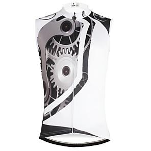 cheap Cycling Jerseys-ILPALADINO Men's Sleeveless Cycling Jersey White Gear Bike Vest / Gilet Jersey Tank Top Mountain Bike MTB Road Bike Cycling Quick Dry Sports Clothing Apparel / Stretchy