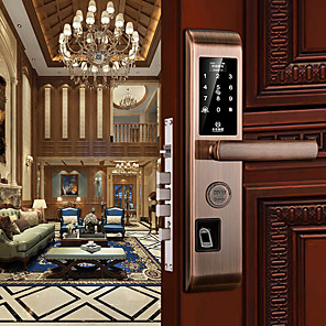 cheap Door Locks-Smart Lock Combination Lock Fingerprint Lock Digital Deadbolt Electronic Lock Card Password Bluetooh APP Anti-theft 6068 Lock Body Smart Home Security Suit for Left Door Right Door Home Villa Office