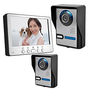 cheap Video Door Phone Systems-815FA21 7 inch wired video intercom doorbell two outdoor units one indoor unit building video intercom