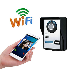 cheap Video Door Phone Systems-WIFI No Screen(output by APP) WIFI/IP doorbell HD 1080P waterproof video doorbell call intercom remote unlock function