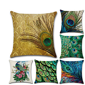 cheap Pillow Covers-1 pcs Linen Pillow Cover, 3D Contemporary Classic Fashion Throw Pillow