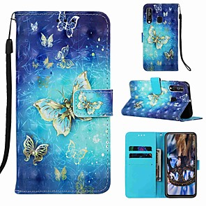 cheap Other Phone Case-Case For Sony Xperia XA3 / Sony Xperia L3 Pattern / Flip / with Stand Full Body Cases Cartoon / Butterfly Hard PU Leather for Xperia L2 / Sony Xperia XA1 / Sony Xperia XA2