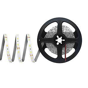 hesapli LED Şerit Işıklar-5m Esnek LED Şerit Işıklar 300 LED'ler SMD 2835 8mm 1pc Sıcak Beyaz Serin Beyaz Kırmızı Kesilebilir Parti Bağlanabilir 12 V / Kendinden Yapışkanlı