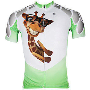 cheap Cycling Jerseys-ILPALADINO Men's Short Sleeve Cycling Jersey White / Green Bike Jersey Top Breathable Quick Dry Ultraviolet Resistant Sports 100% Polyester Mountain Bike MTB Road Bike Cycling Clothing Apparel
