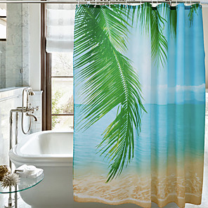 cheap Shower Curtains-Shower Curtains Casual Polyester Machine Made Waterproof Bathroom