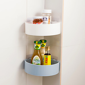 cheap Bathroom Gadgets-Bathroom Shelves Wall Suction Fan Corner Kitchen Bathroom Shelf Storage Rack