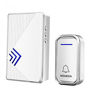 cheap Doorbell Systems-Wireless home doorbell battery DC power one for one full battery without plugging wireless waterproof doorbell