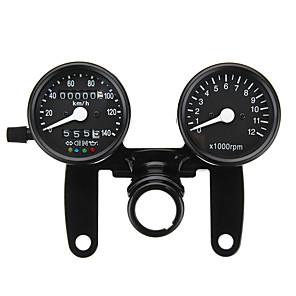 cheap Motorcycle Lighting-12V Motorcycle LED Backlight Odometer Tachometer Speedometer Dual Gauge Meter With Bracket for Universal
