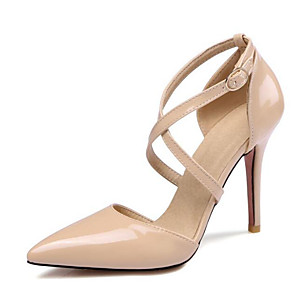 cheap Women's Heels-Women's Heels Plus Size Stiletto Heel Daily Patent Leather Nude / White / Black