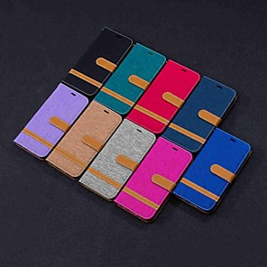 cheap Other Phone Case-Case For LG LG Stylo 5 / LG K40 / LG K10 2018 Wallet / Card Holder / with Stand Full Body Cases Tile Hard Textile / LG G6