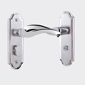 cheap Door Hardware & Locks-Guze 304 stainless steel bathroom door lock without key mute toilet toilet kitchen aluminum door lock