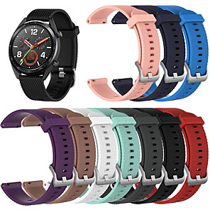 cheap Smartwatch Bands-Watch Band for Huawei Watch GT / Huawei Watch 2 Pro Huawei Sport Band / Classic Buckle Silicone Wrist Strap