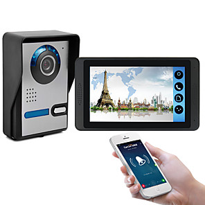 cheap Video Door Phone Systems-618FA117 inch capacitive touch screen video camera wired video doorbell wifi / 3G / 4G remote call unlock storage visual intercom one to one
