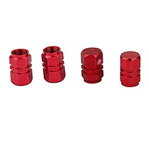 cheap Car Body Decoration & Protection-4x Tire Wheel Rims Stem Air Valve Caps Tyre Cover Car Truck Red