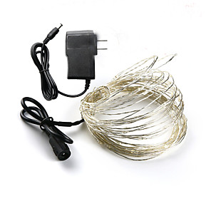cheap LED String Lights-LOENDE Holiday Lights DC 10M Fairy Lights 12V 1A Adapter ChristmasNew YearWedding Decoration Lights Led Strings