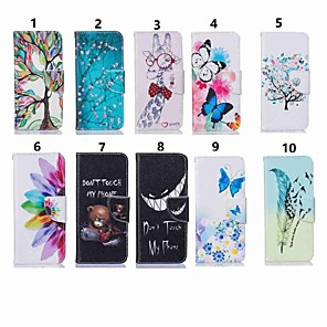 cheap Other Phone Case-Case For LG LG V30 / LG V20 / LG Stylo 4 Wallet / Shockproof / with Stand Full Body Cases Butterfly / Animal / Tree Hard PU Leather / LG G6