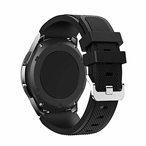 cheap Smartwatch Bands-Watch Band for Gear S3 Frontier Samsung Galaxy Classic Buckle Silicone Wrist Strap