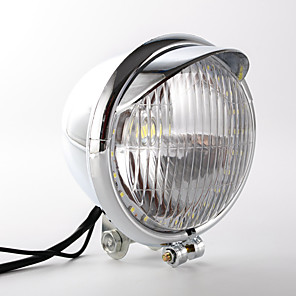 cheap Motorcycle Lighting-1pcs Wire Connection Motorcycle Light Bulbs 5 W 1 LED Fog Lights For Harley General Motors All years