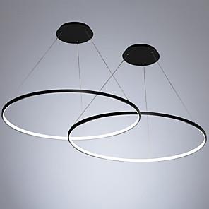 povoljno Dizajn kruga-2pcs / lot led40w moderni krug privjesak svjetlo ambijentalno svjetlo oslikana za dnevnu sobu blagovaonica / topla bijela / bijela / dimmable s daljinskim / WiFi pametna kontrola / 110-120v / 220-240v
