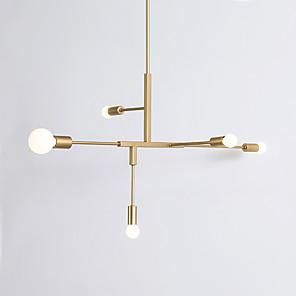 cheap LED Strip Lights-5-Light 84 cm Adjustable / New Design Pendant Light Metal Glass Sputnik Electroplated / Painted Finishes Modern 110-120V / 220-240V