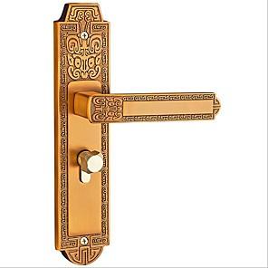cheap Door Hardware & Locks-European indoor bedroom door lock mechanical door lock home mute solid wood door lock with door lock