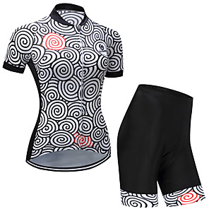 cheap Cycling Jerseys-Men's Women's Short Sleeve Cycling Jersey with Shorts Gray+White Purple Orange Novelty Bike Clothing Suit Quick Dry Sports Circle Mountain Bike MTB Road Bike Cycling Clothing Apparel / Stretchy