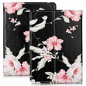 cheap Sleeves,Cases & Covers-Case For Amazon Kindle PaperWhite 4 /PaperWhite 3(3th Generation 2015 Release) Magnetic / Flip / with Stand Full Body Cases Flower Hard PU Leather for Kindle PaperWhite 4 / PaperWhite 2