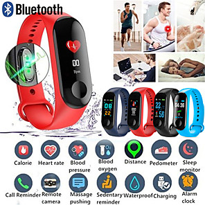 cheap Security Accessories-M3 Smart Wristband Big Touch Screen OLED Message Heart Rate Time Fitness Bracelet Smartband Watch for Android IOS Bracelet Watch