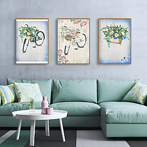 cheap Framed Arts-Framed Art Print Framed Set - Abstract Floral / Botanical PS Illustration Wall Art
